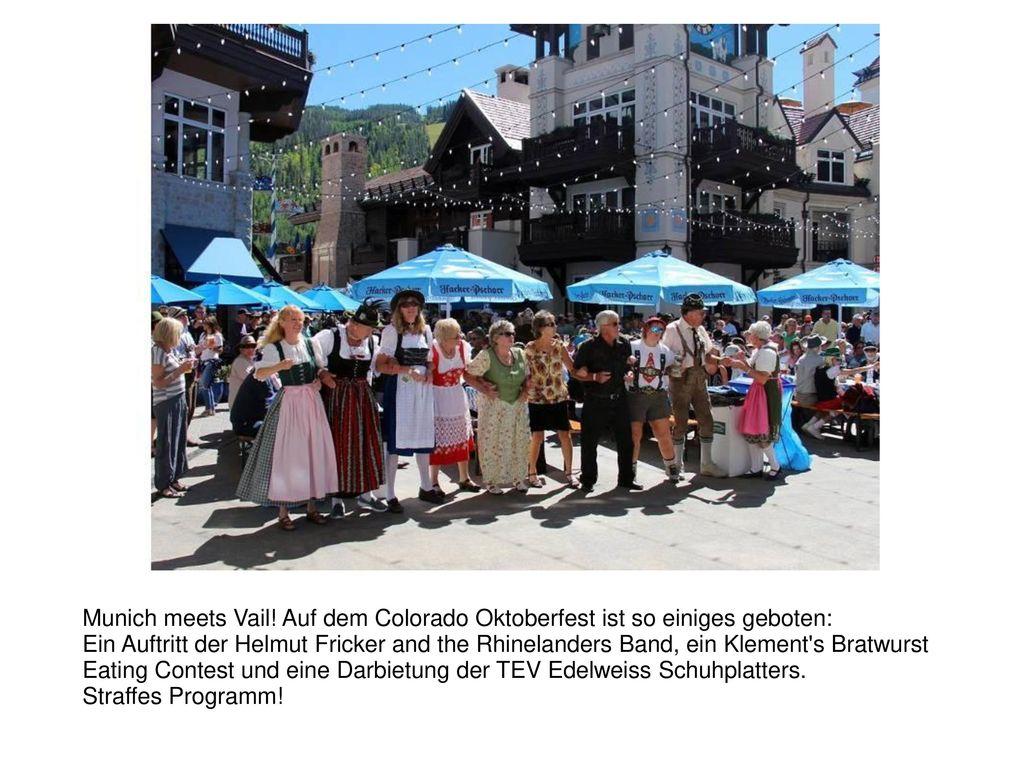 Munich meets Vail! Auf dem Colorado Oktoberfest ist so einiges geboten: