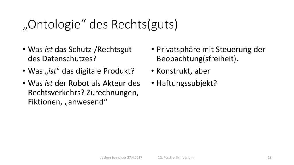 """Ontologie des Rechts(guts)"