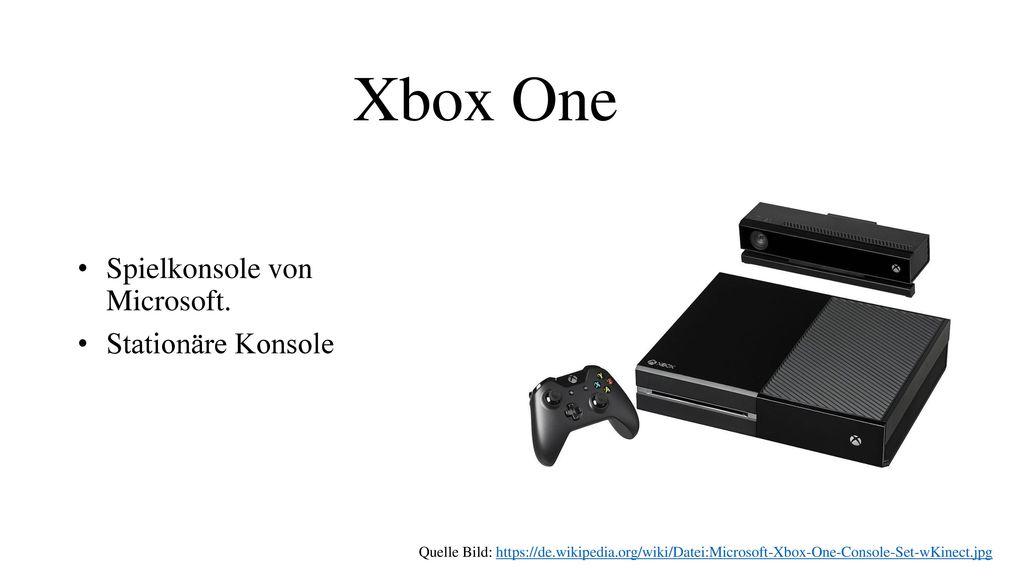 Xbox One Spielkonsole von Microsoft. Stationäre Konsole