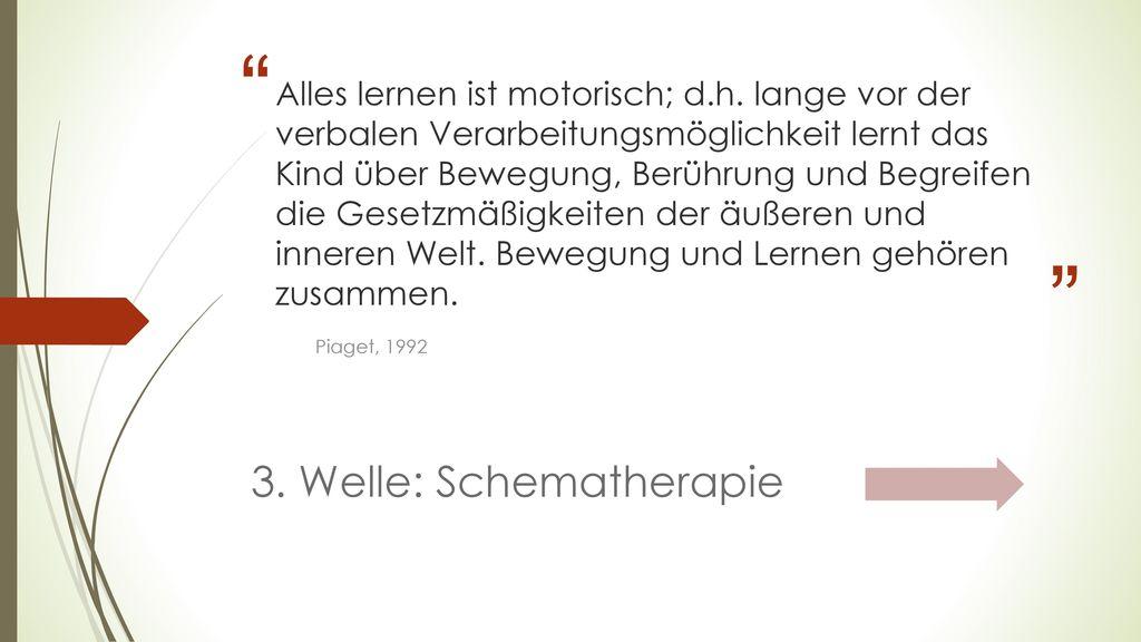 3. Welle: Schematherapie
