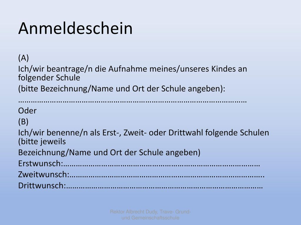 Rektor Albrecht Dudy, Trave- Grund- und Gemeinschaftsschule
