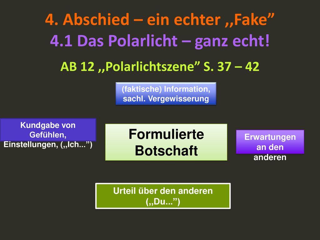 4. Abschied – ein echter ,,Fake 4.1 Das Polarlicht – ganz echt!