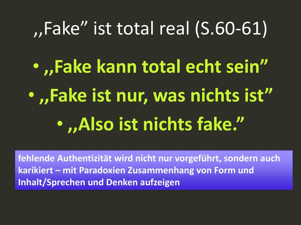 ,,Fake ist total real (S.60-61)
