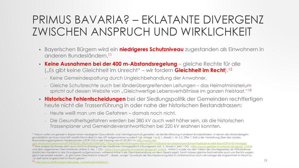 Primus Bavaria – Eklatante Divergenz zwischen Anspruch und Wirklichkeit