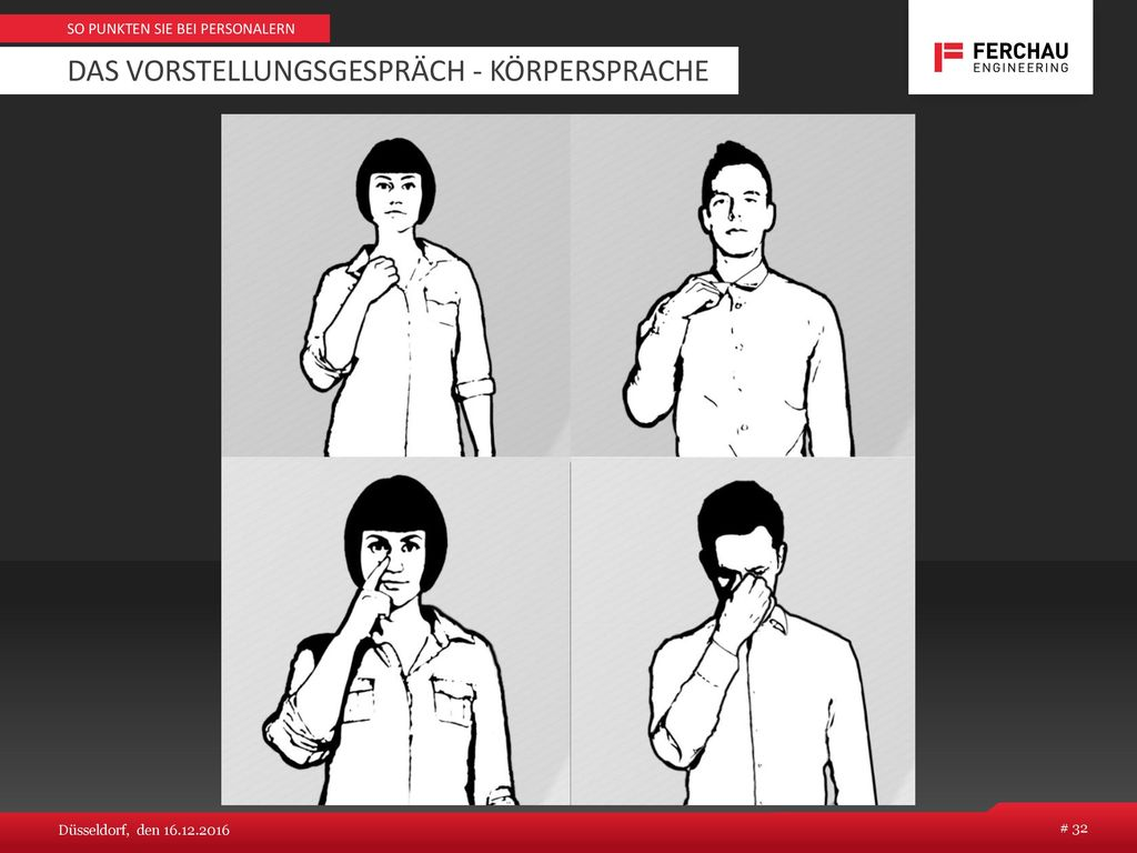 Das Vorstellungsgespräch - Körpersprache