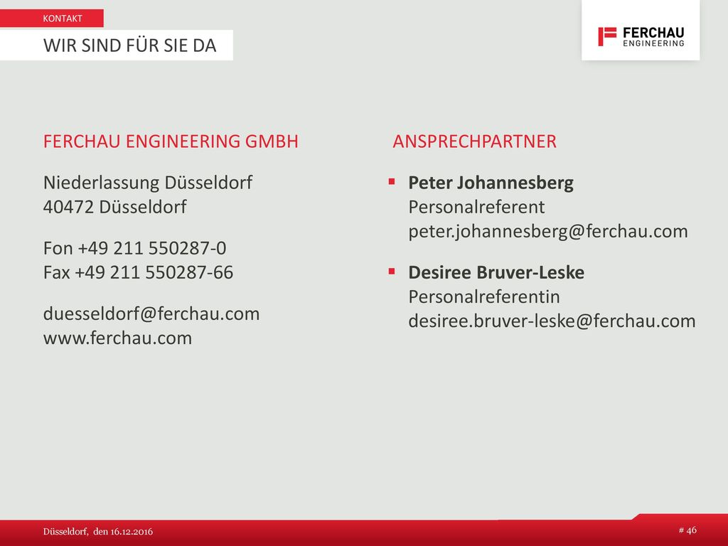 FERCHAU Engineering GmbH Ansprechpartner