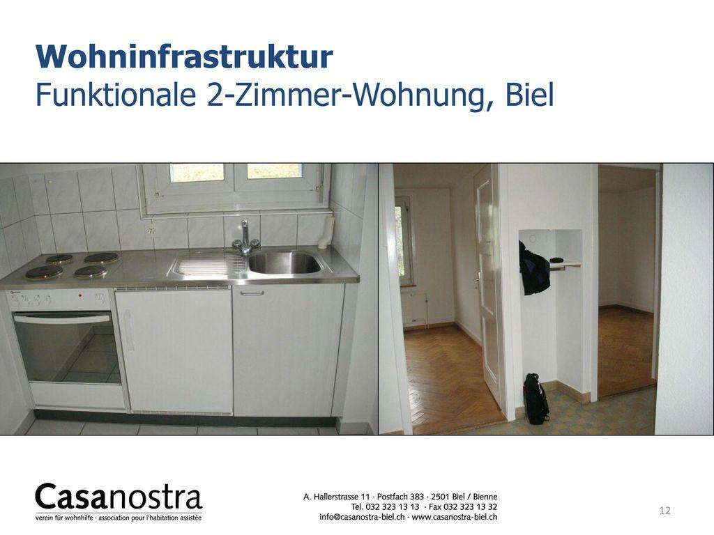 Wohninfrastruktur Funktionale 2-Zimmer-Wohnung, Biel