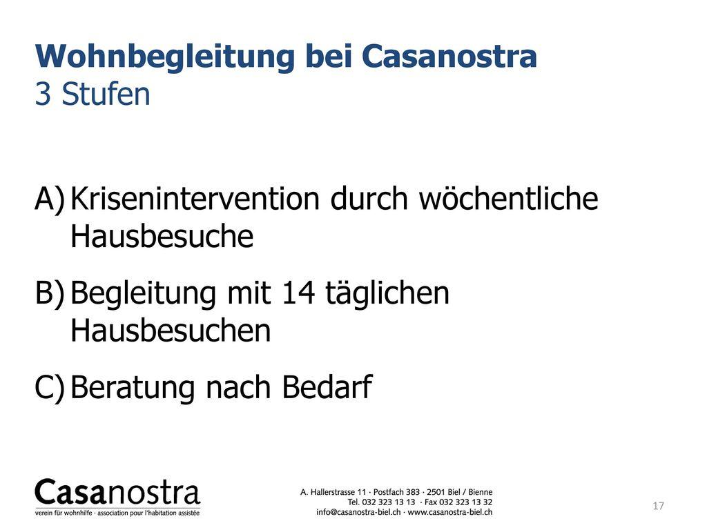 Wohnbegleitung bei Casanostra