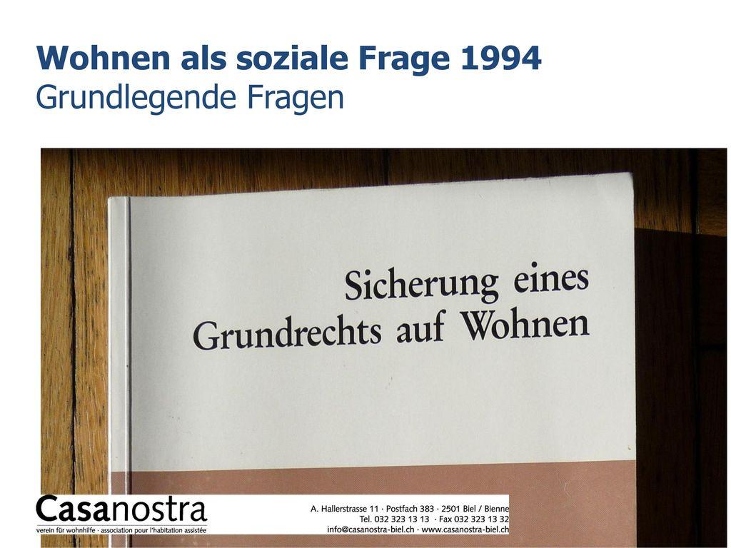 Wohnen als soziale Frage 1994