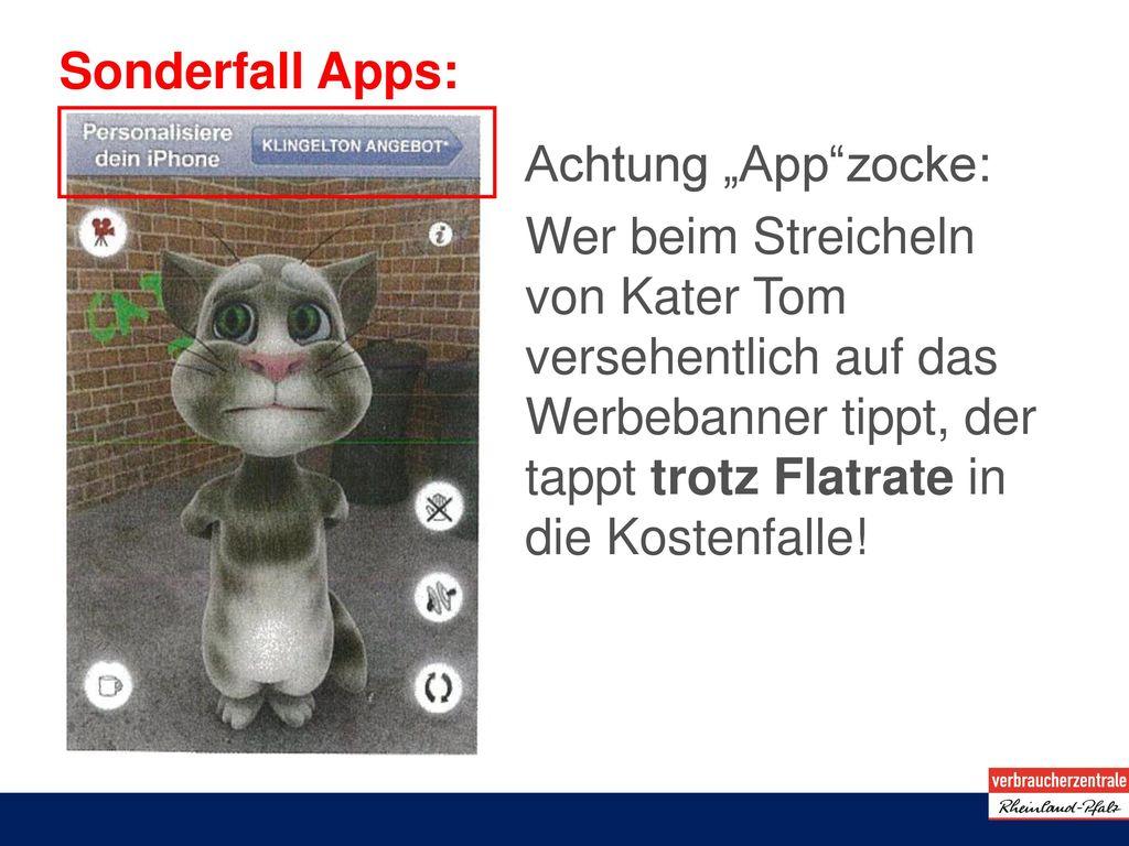 "Sonderfall Apps: Achtung ""App zocke:"