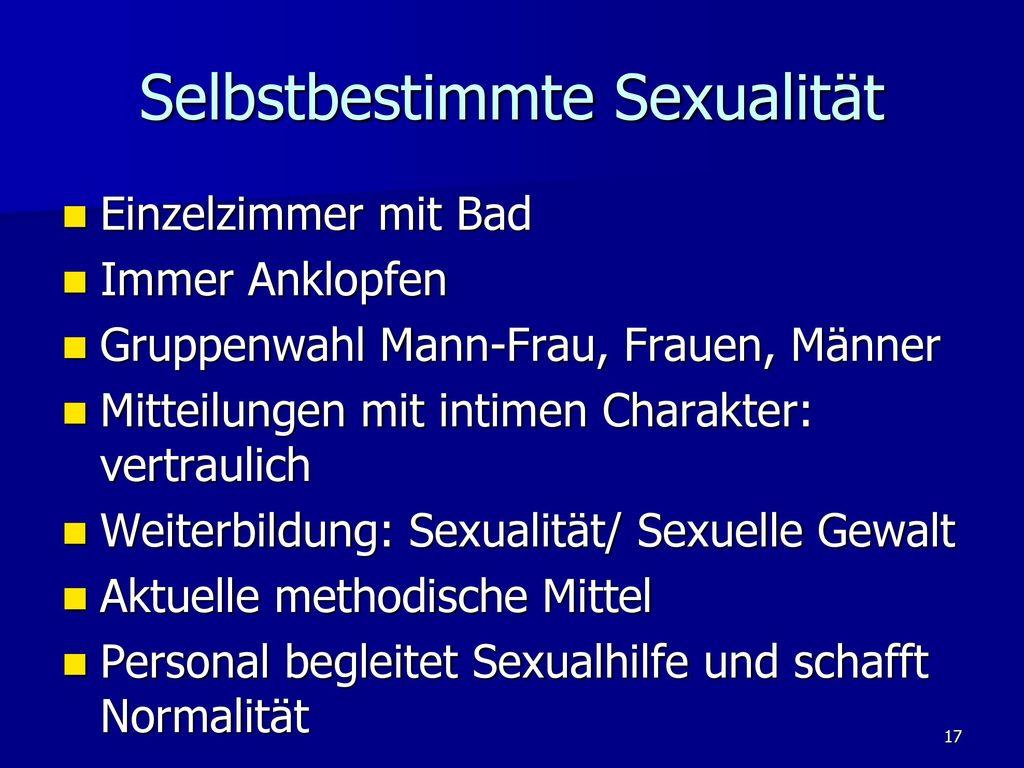 Selbstbestimmte Sexualität