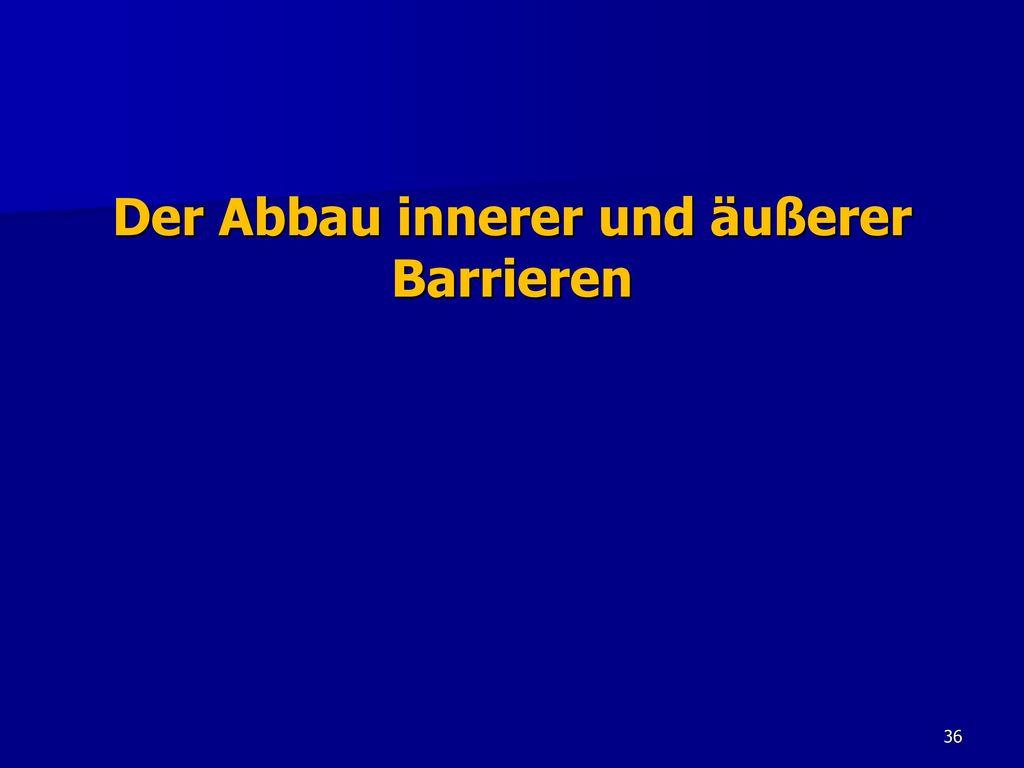 Der Abbau innerer und äußerer Barrieren