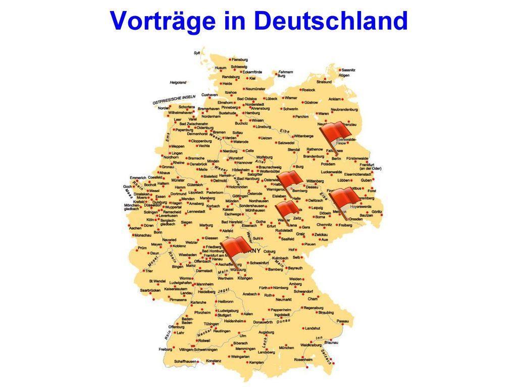 Vorträge in Deutschland