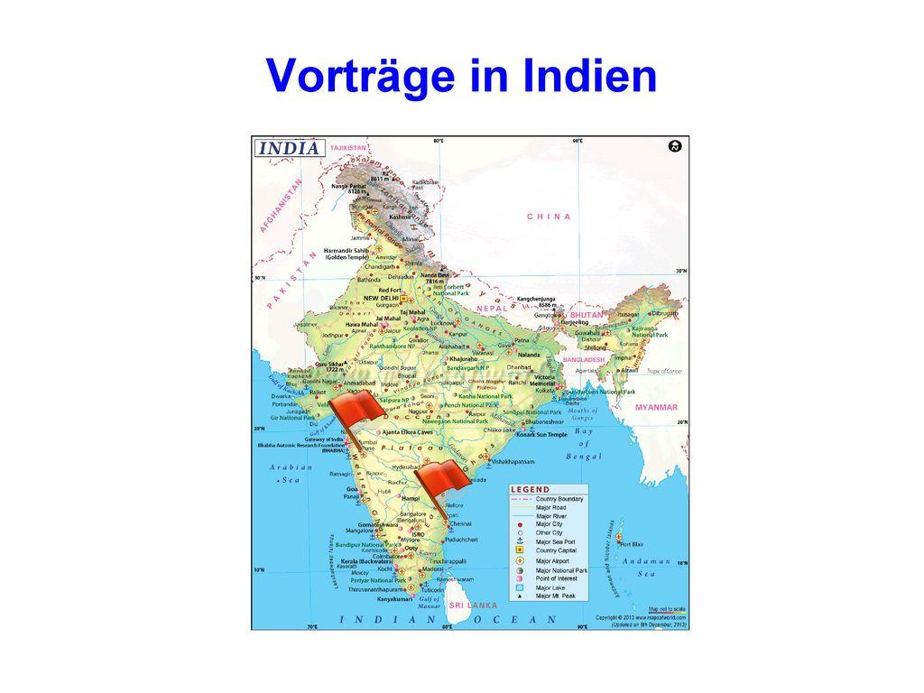 Vorträge in Indien