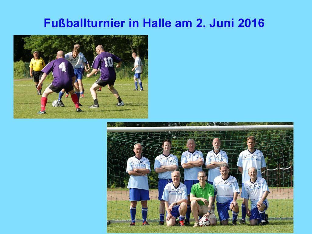 Fußballturnier in Halle am 2. Juni 2016