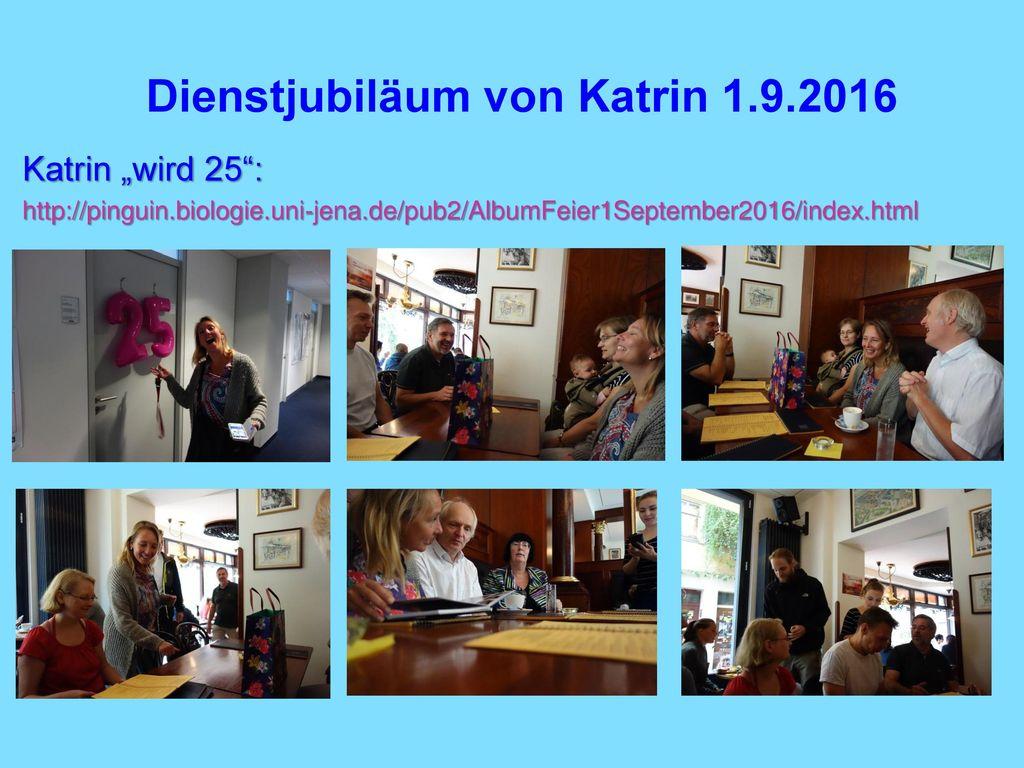 Dienstjubiläum von Katrin 1.9.2016