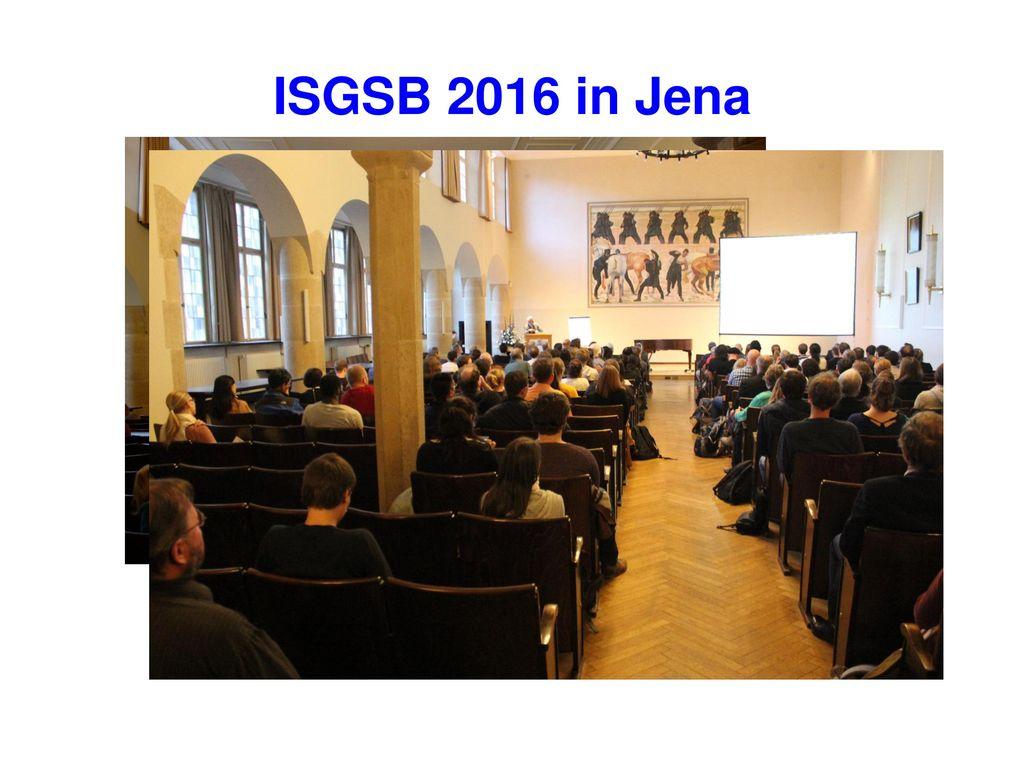 ISGSB 2016 in Jena