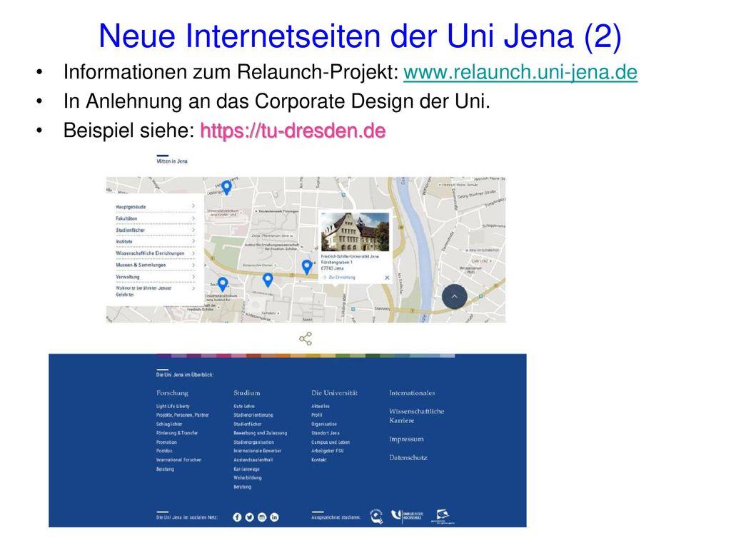 Neue Internetseiten der Uni Jena (2)