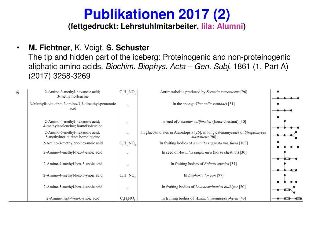 Publikationen 2017 (2) (fettgedruckt: Lehrstuhlmitarbeiter, lila: Alumni)