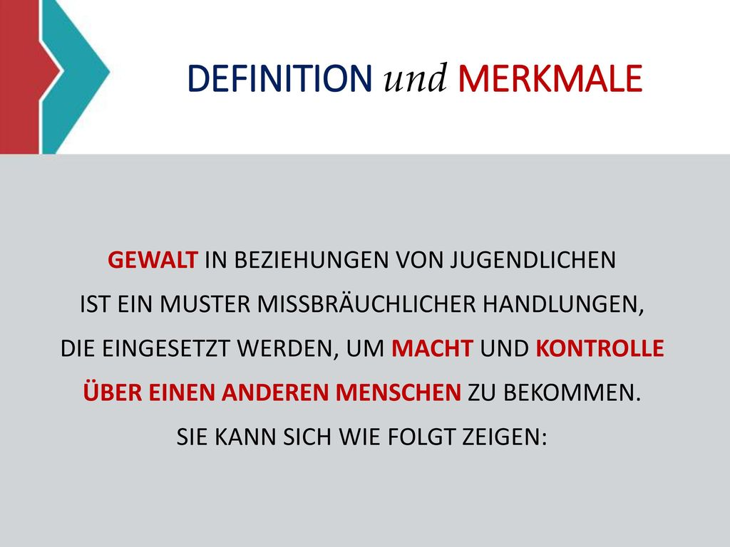 DEFINITION und MERKMALE
