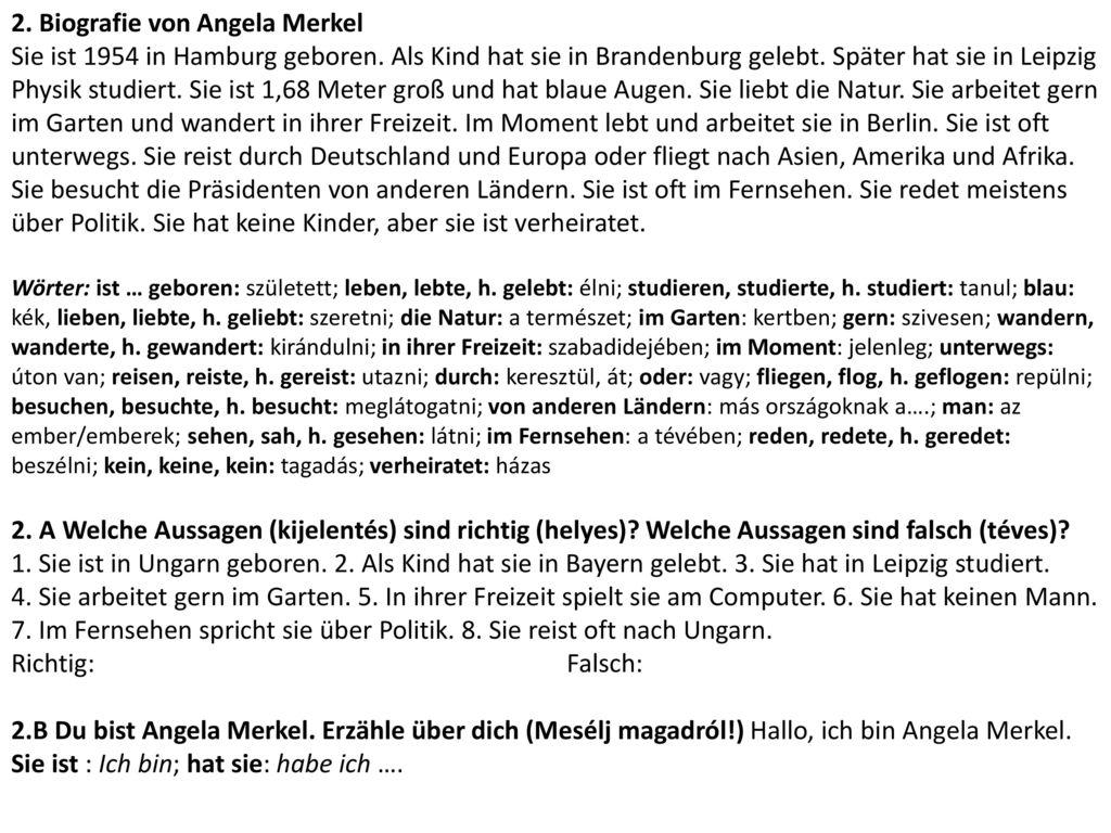 2. Biografie von Angela Merkel