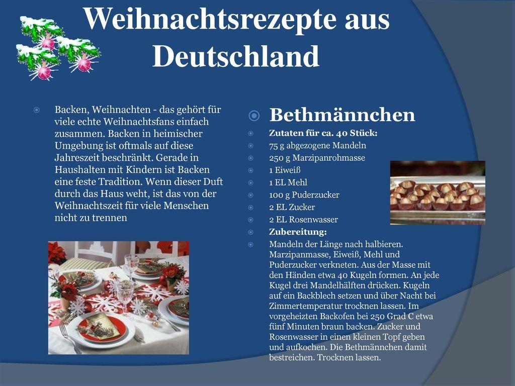 Weihnachtsrezepte aus Deutschland
