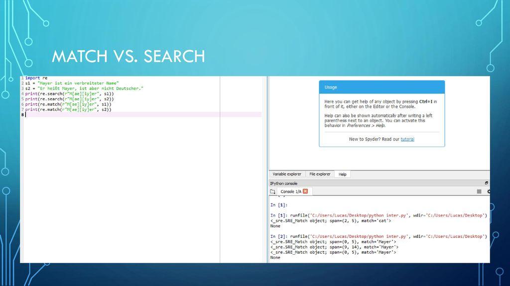 Match vs. Search