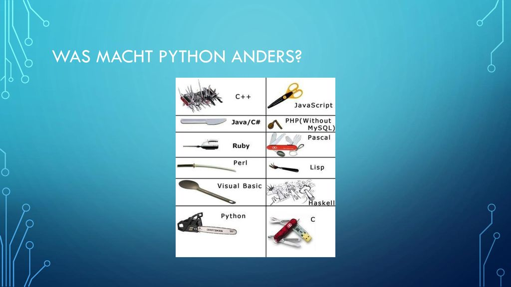 Was macht Python anders