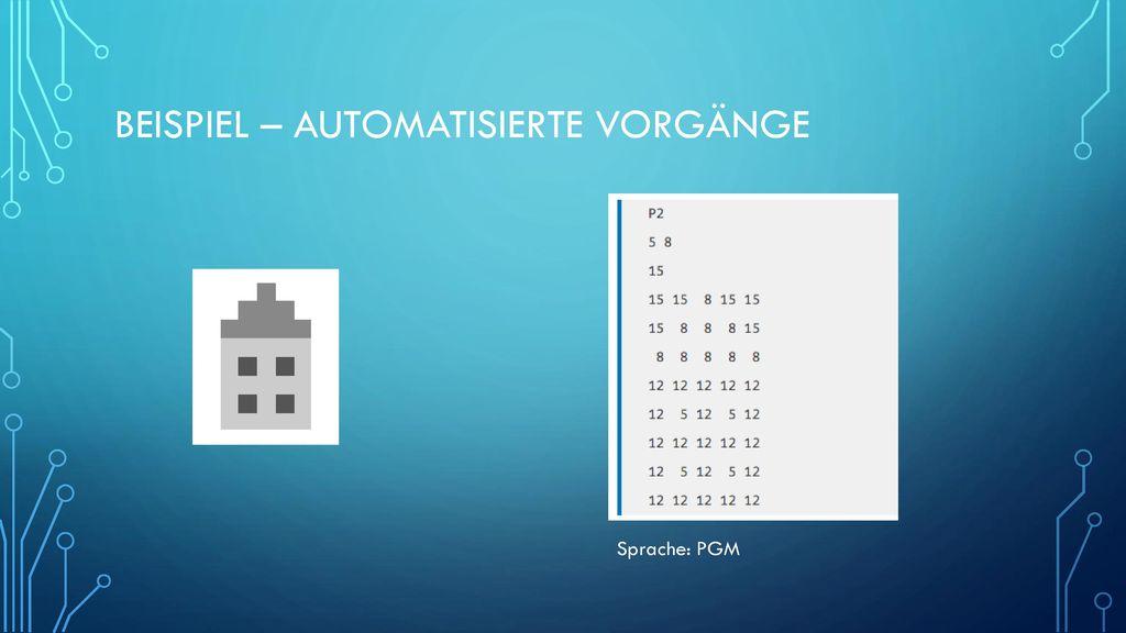 Beispiel – Automatisierte Vorgänge