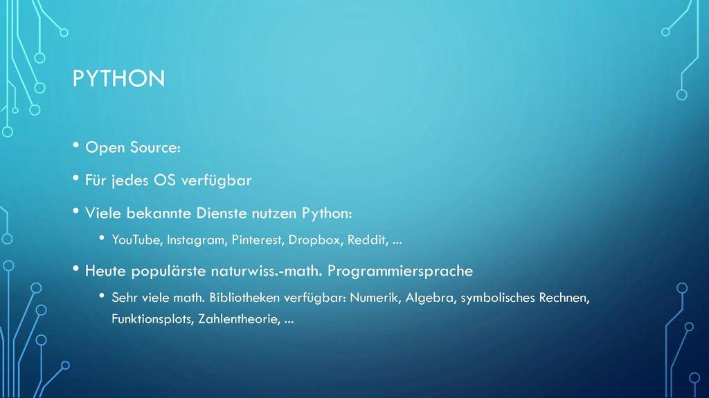 Python Open Source: Für jedes OS verfügbar