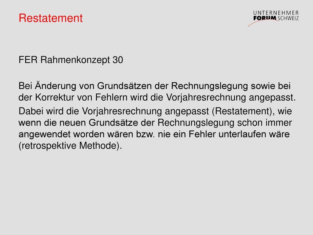 Restatement FER Rahmenkonzept 30
