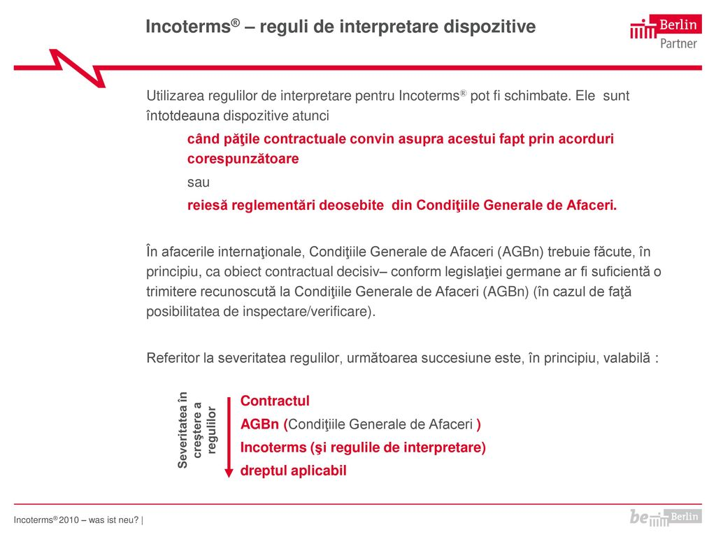 Incoterms® – reguli de interpretare dispozitive
