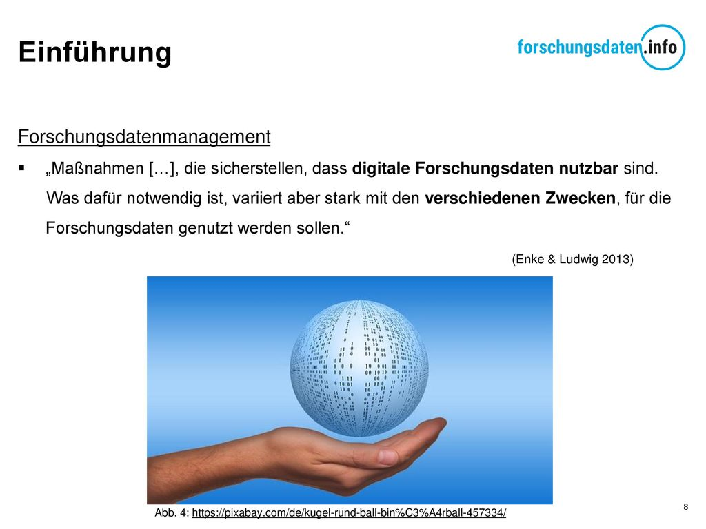 Einführung Forschungsdatenmanagement