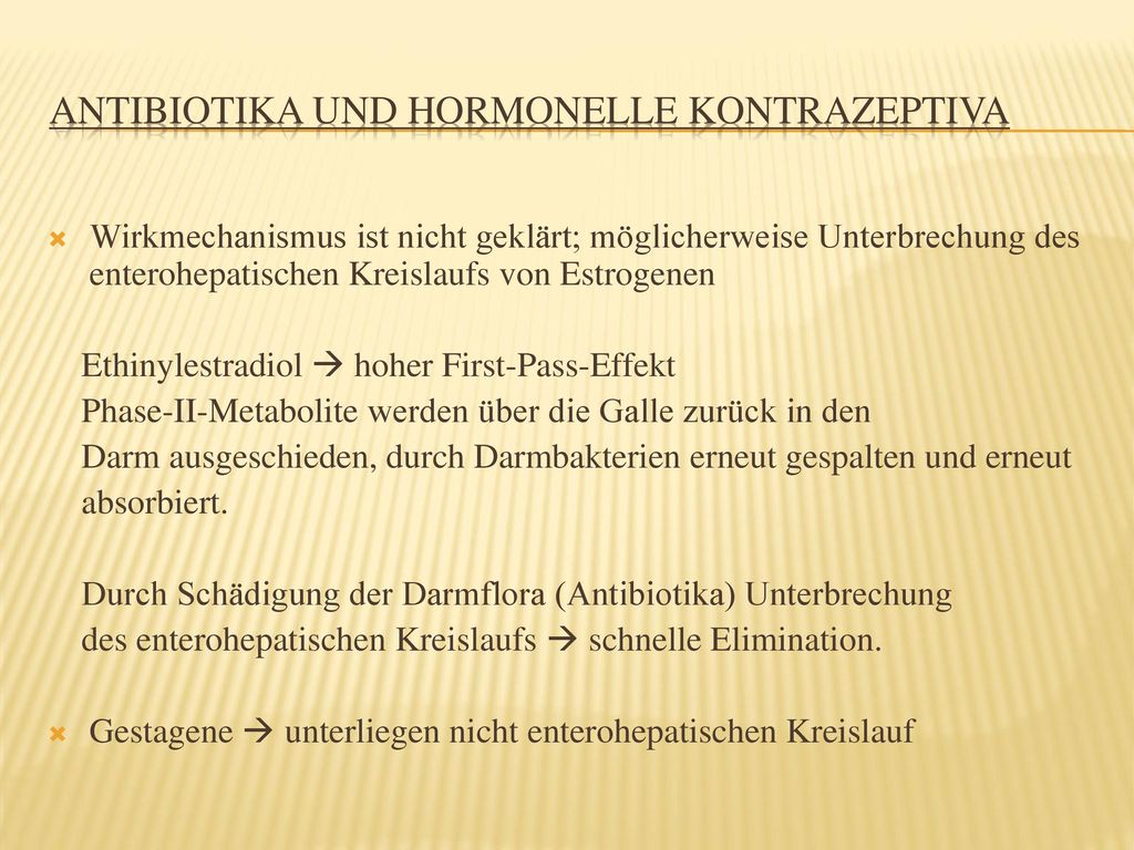 Antibiotika und hormonelle Kontrazeptiva