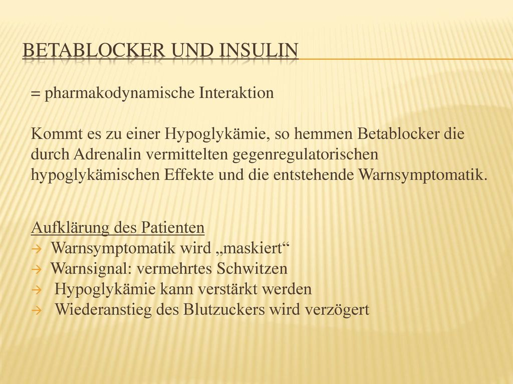 Betablocker und Insulin