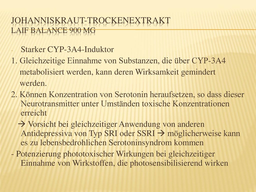 Johanniskraut-Trockenextrakt Laif Balance 900 mg