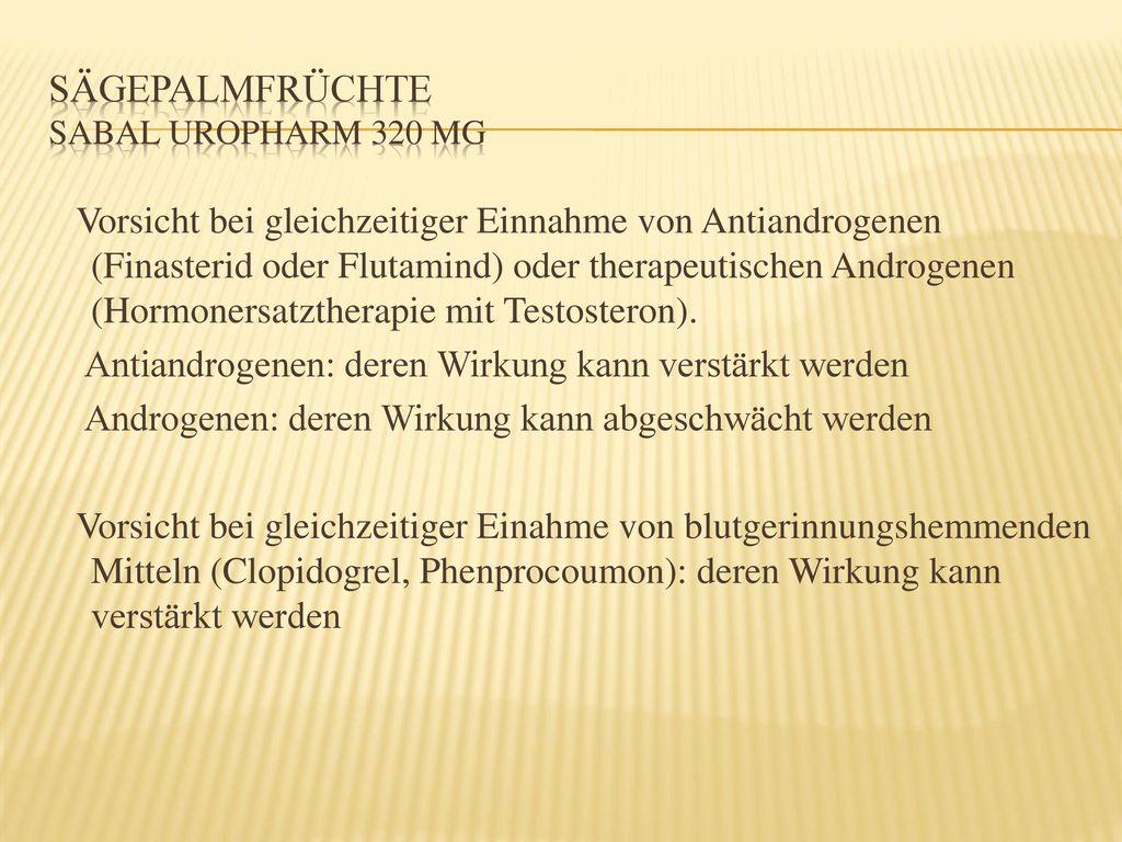 Sägepalmfrüchte Sabal uropharm 320 mg
