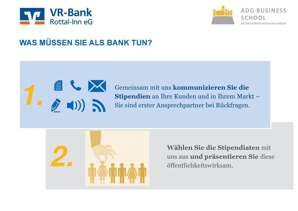Was müssen sie als Bank tun