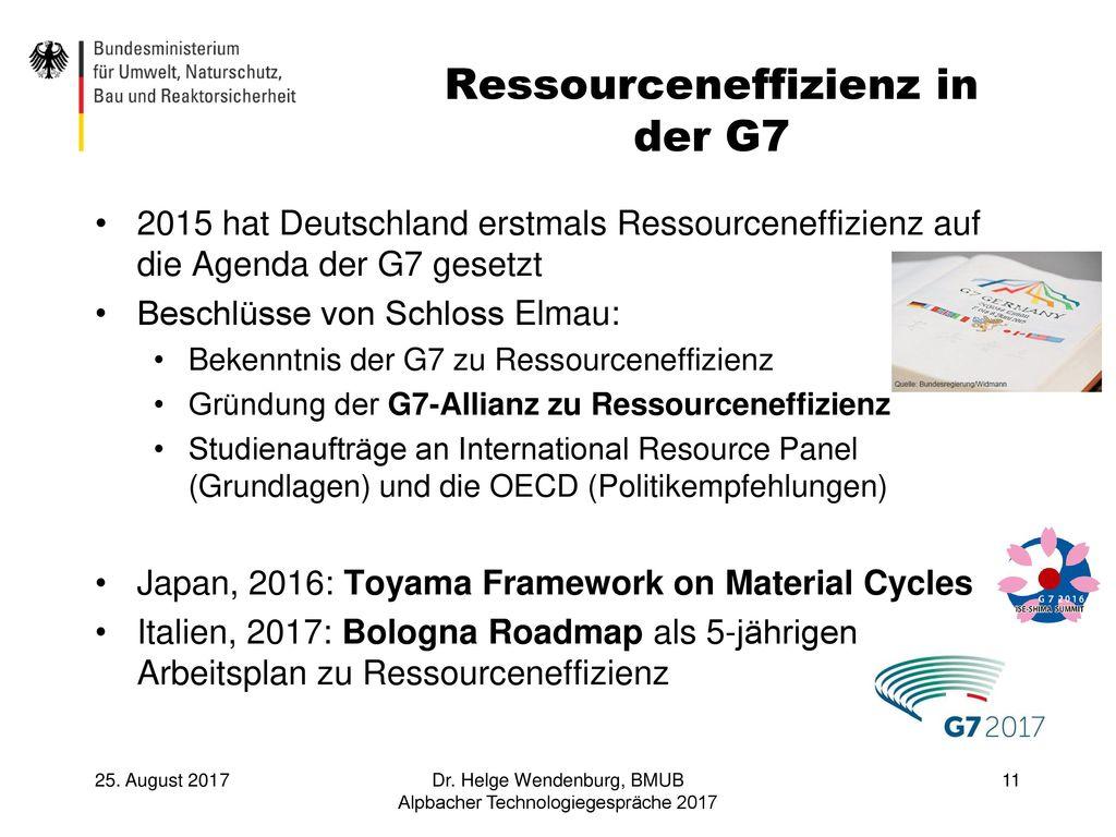 Ressourceneffizienz in der G7