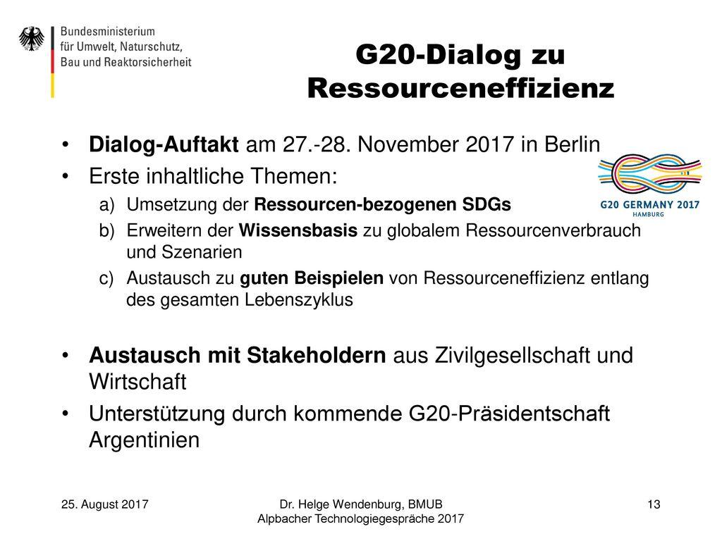 G20-Dialog zu Ressourceneffizienz