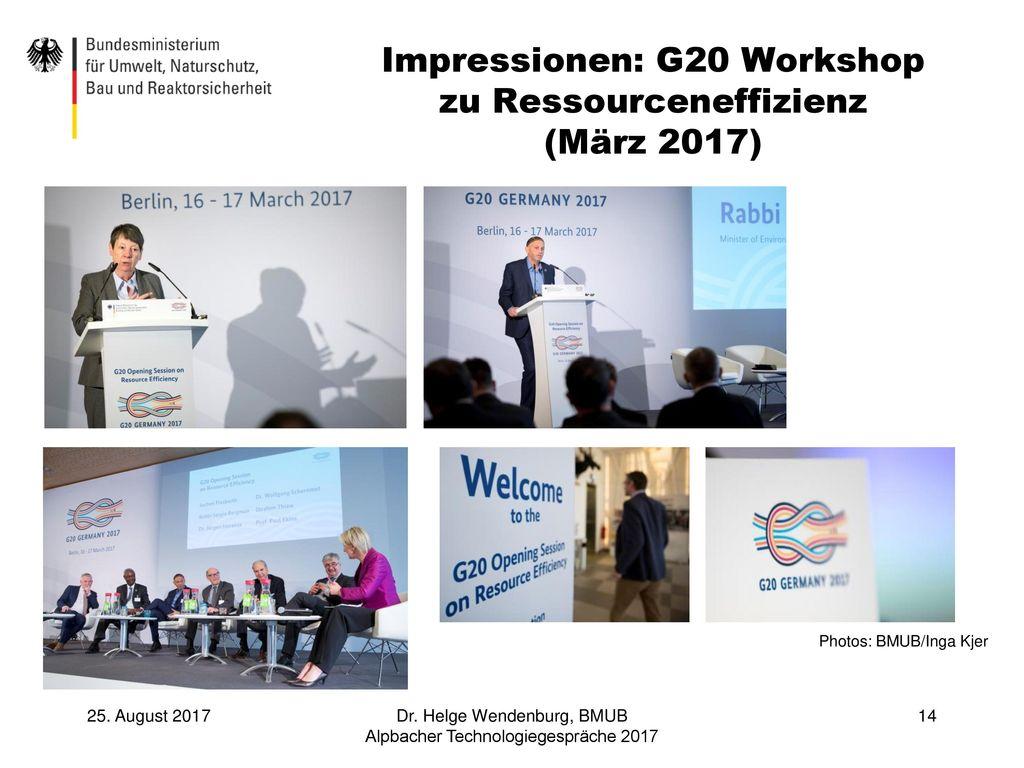 Impressionen: G20 Workshop zu Ressourceneffizienz (März 2017)