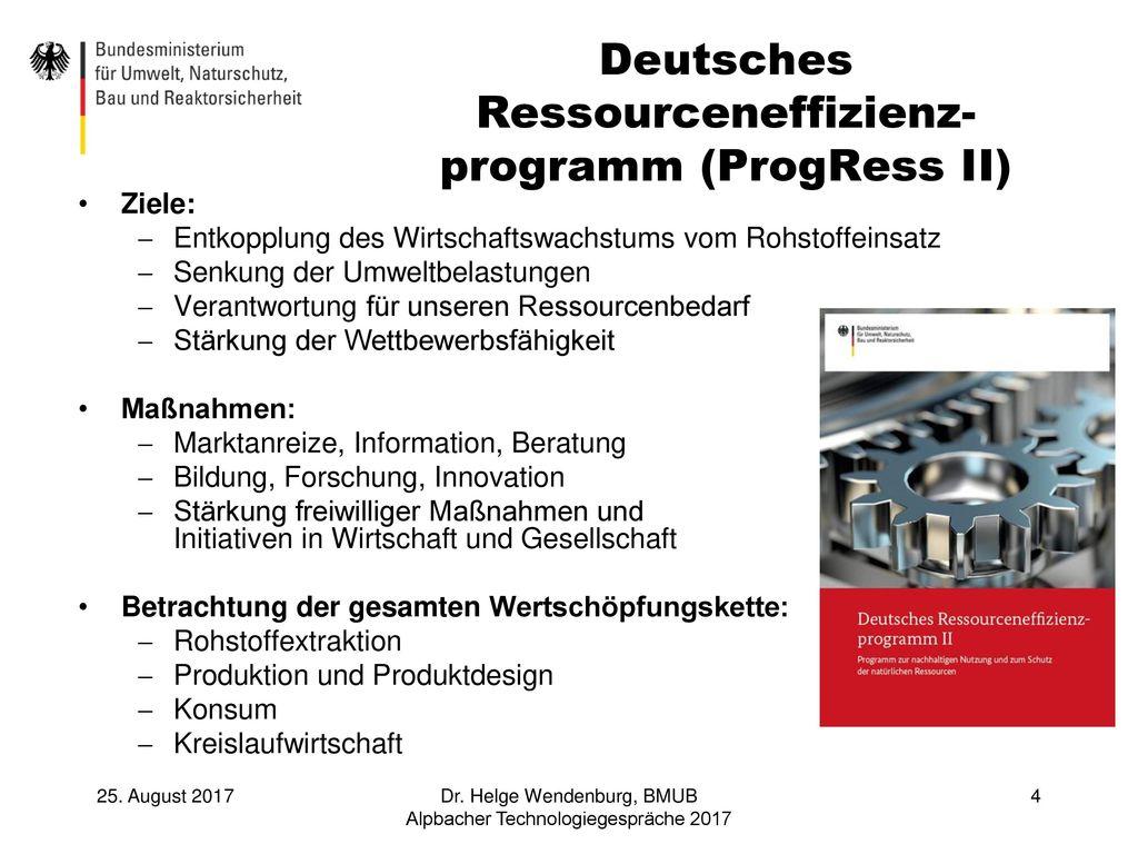 Deutsches Ressourceneffizienz-programm (ProgRess II)