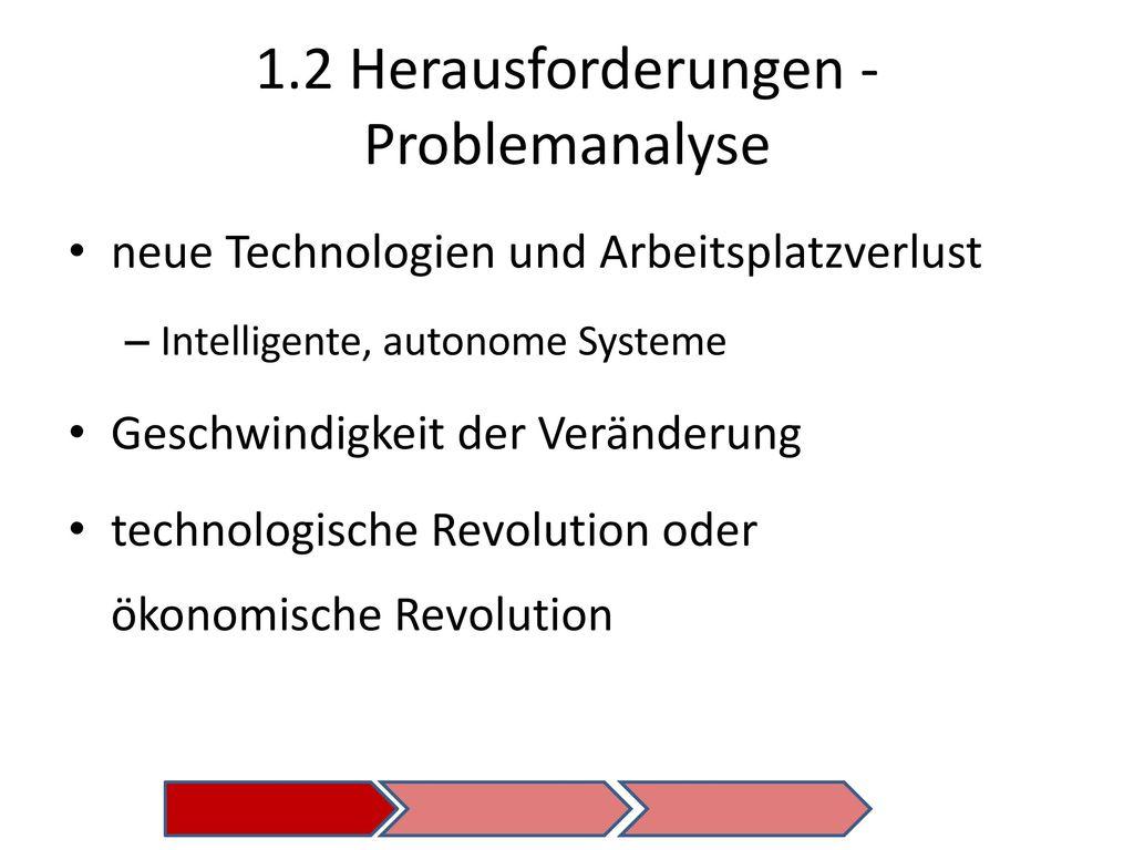 1.2 Herausforderungen - Problemanalyse