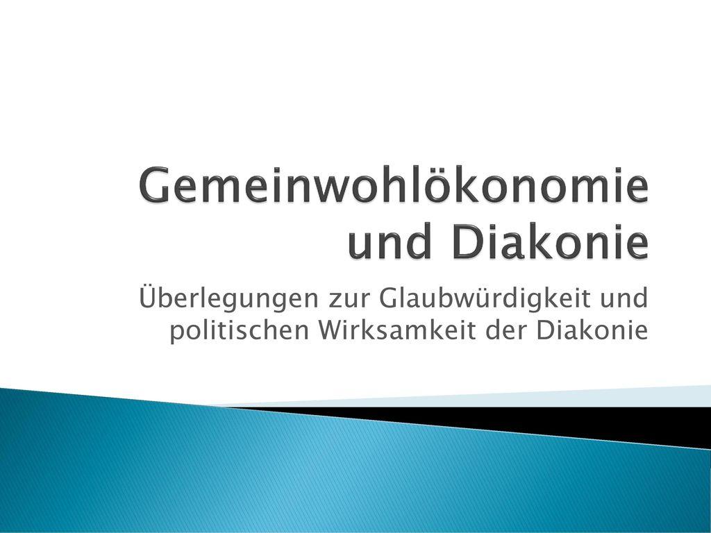 Gemeinwohlökonomie und Diakonie