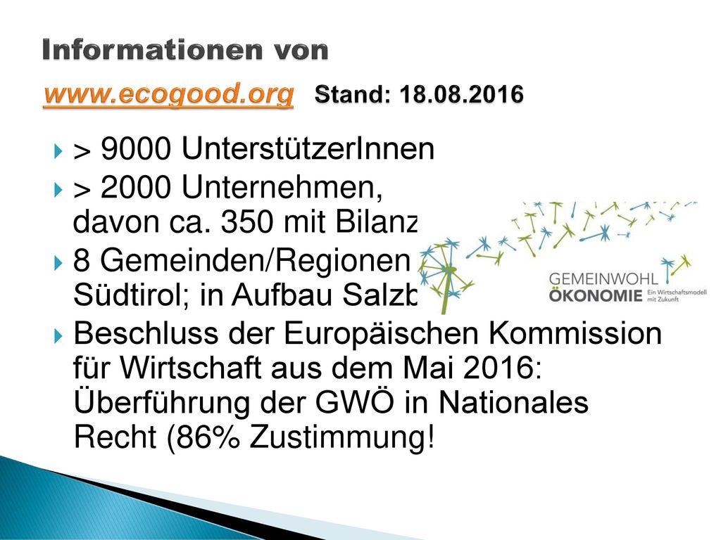 Informationen von www.ecogood.org Stand: 18.08.2016
