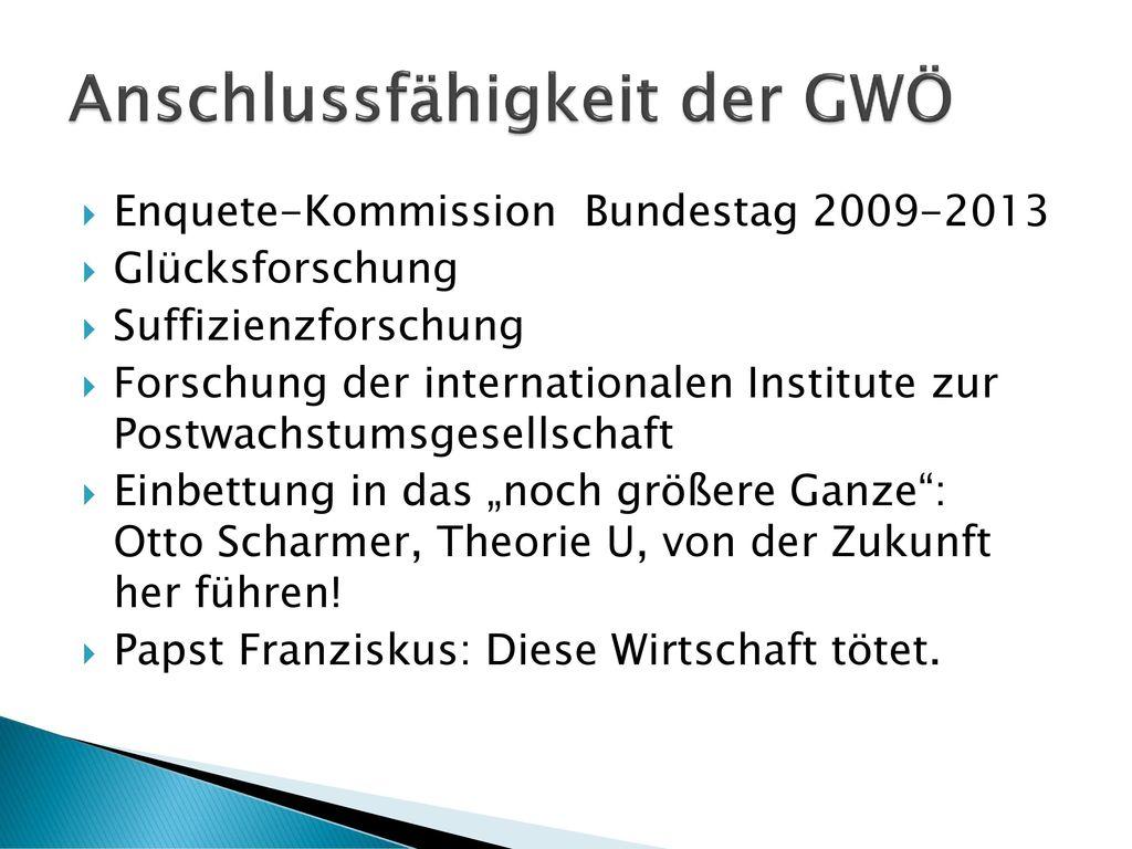 Anschlussfähigkeit der GWÖ