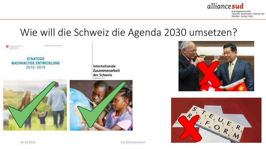 Wie will die Schweiz die Agenda 2030 umsetzen