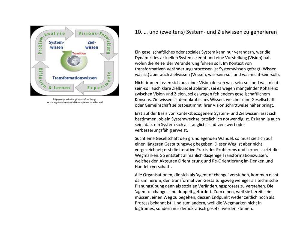 10. … und (zweitens) System- und Zielwissen zu generieren