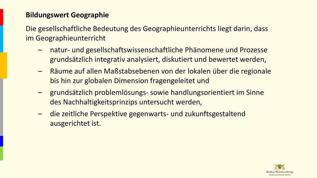 Bildungswert Geographie