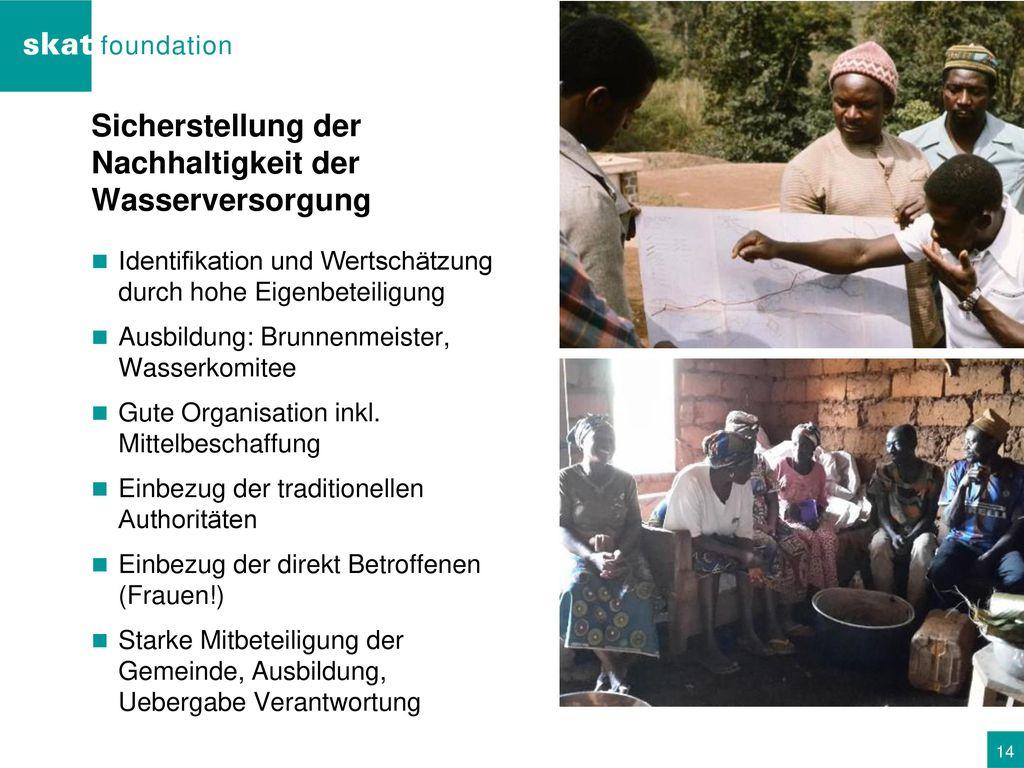 Sicherstellung der Nachhaltigkeit der Wasserversorgung